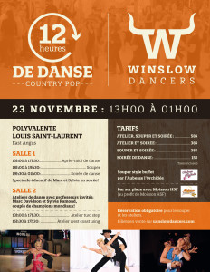 12 heures de danse country pop 23 novembre