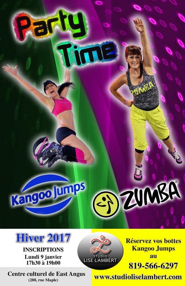 Affiche East Angus Kangoo+Zumba- H2017