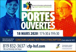 Portes ouvertes 18 mars 2020