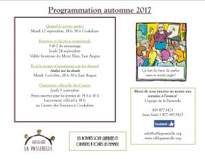 Programmation automne 2017