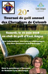 Tournoi de golf 16 juin