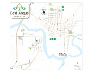 Carte de East Angus-