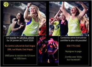 Zumba East Angus Session hiver 2020