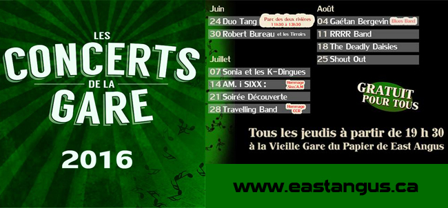 concerts gare 2016