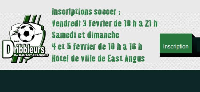 Inscription Dribbleurs - soccer 2017