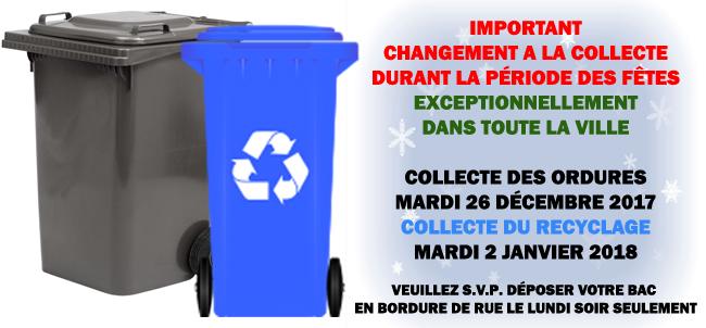Collecte des ordures et recyclage