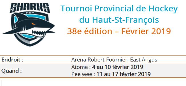 Tournoi Atome-Pee-Wee du Haut-Saint-François 38e édition