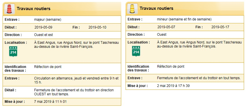 Travaux routiers