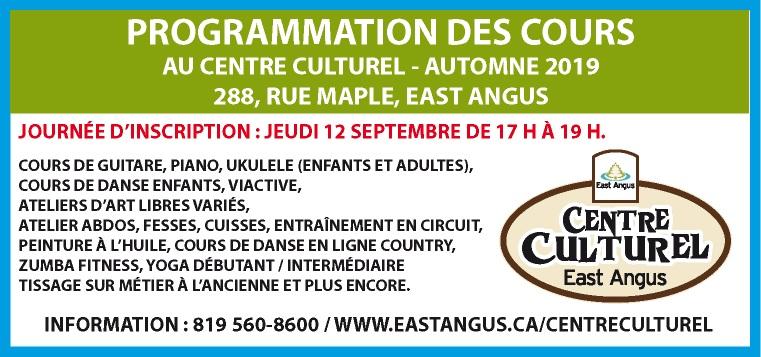 2019-08-21 - Publicité (Programmation Centre culturel)
