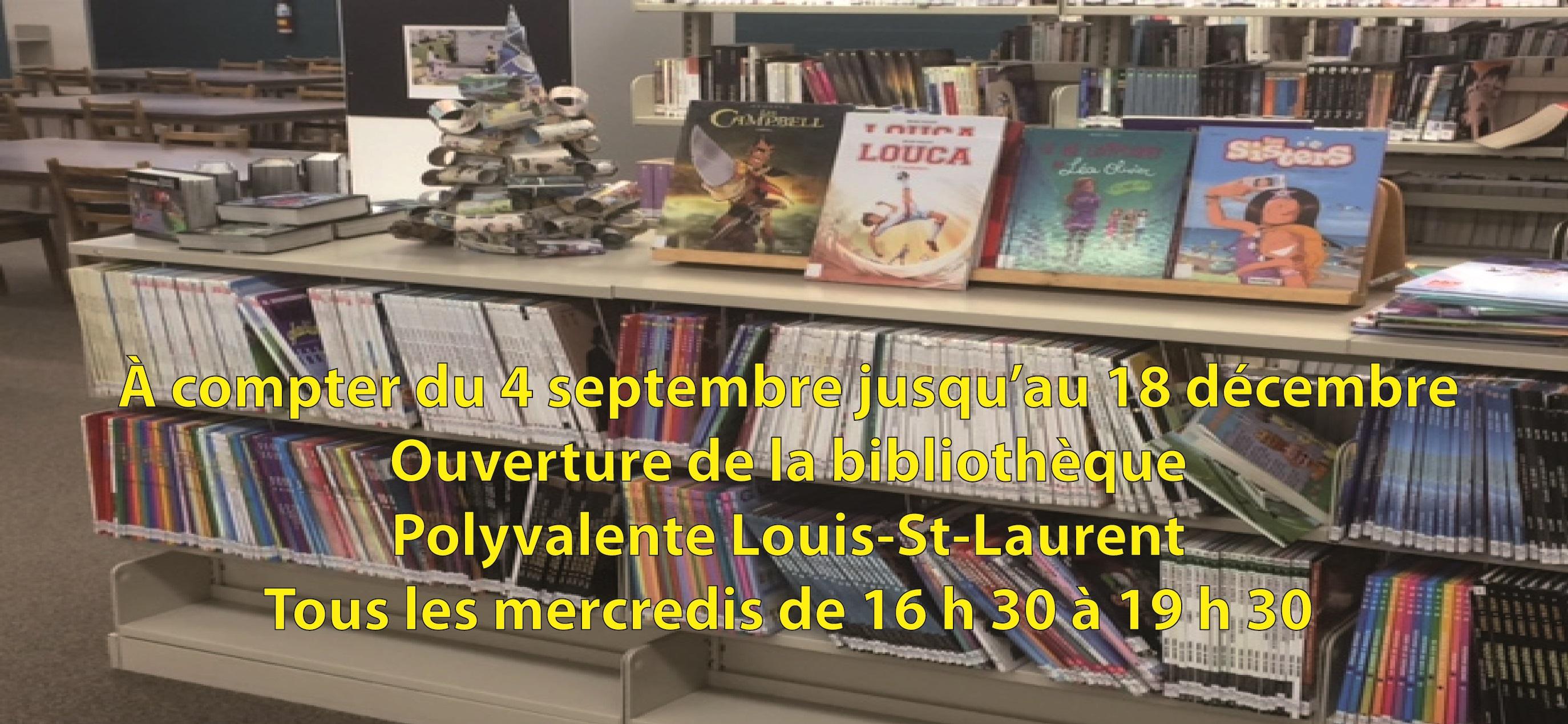Ouverture de la bibliothèque automne 2019