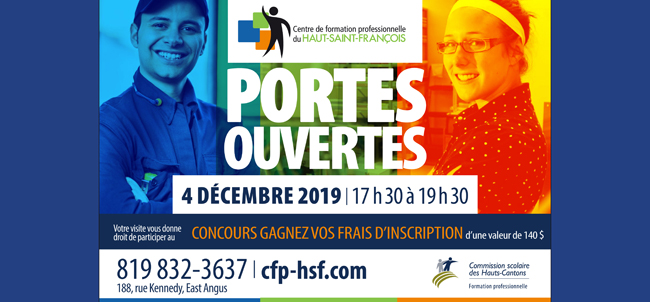 Portes ouvertes - Centre de formation professionnelles du Haut-Saint-François