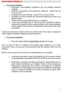 PLAN DE CONTINUITÉ DES SERVICES DES COURS MUNICIPALES - 19 mars 2020-2