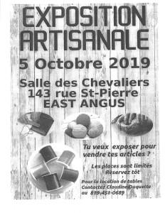 Exposition artisanale 5 octobre 2019