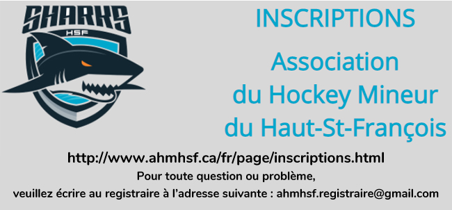 Inscriptions Hockey mineur