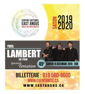 Programmation 2019-2020 - Centre culturel East Angus Yves Lambert