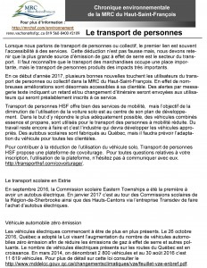 Vol 31 #2 Le transport de personne