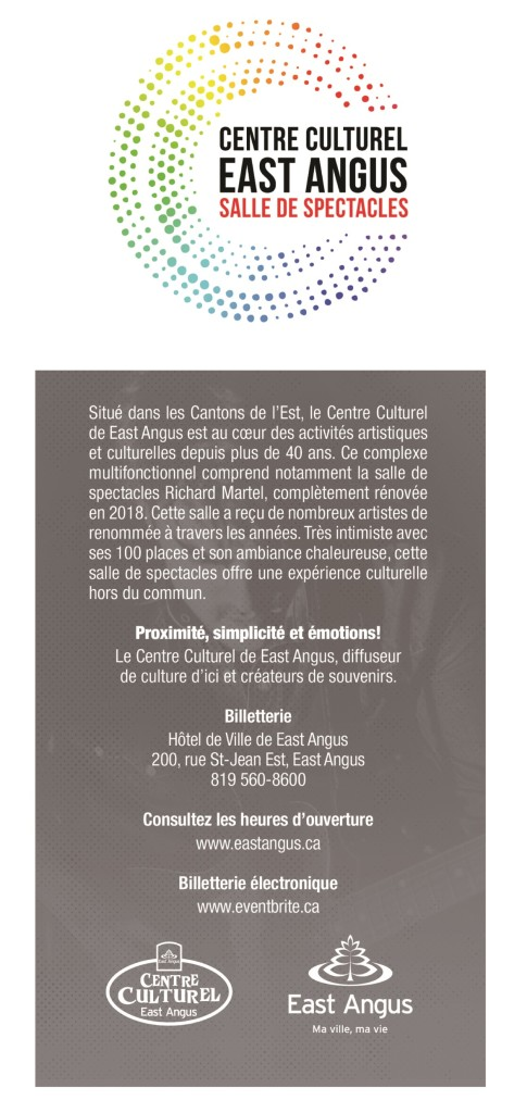 Programmation 2019-2020 - Centre culturel East Angus Verso