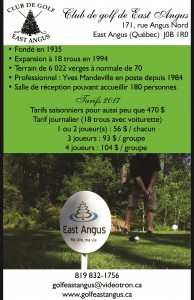 Montage Club de golf East Angus - 2017