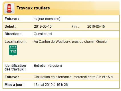 2019-05-15 - Travaux routiers