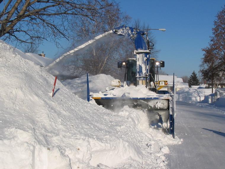 Soufflage de la neige